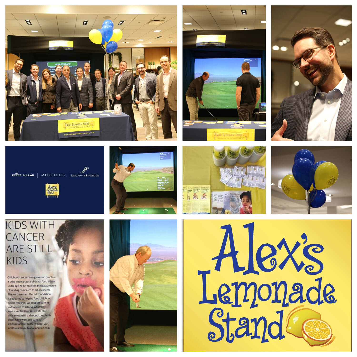Alex's Lemonade Stand event photo collage