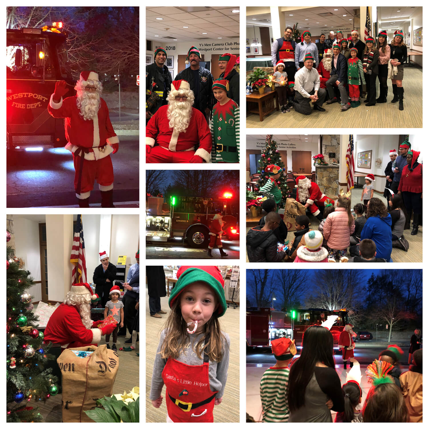 2018 Santa Visit event photo collage