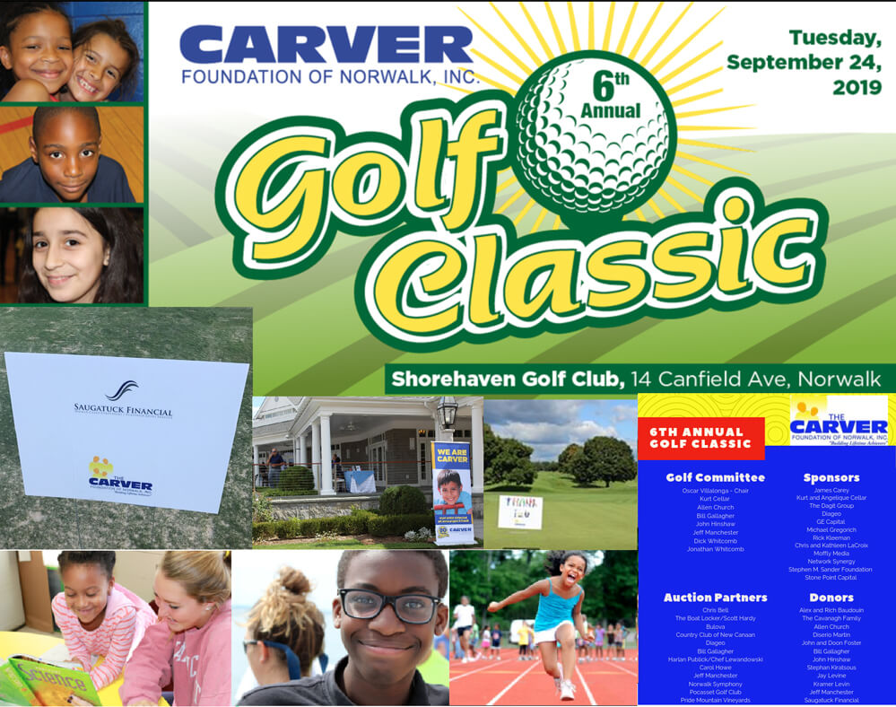 Golf event collage